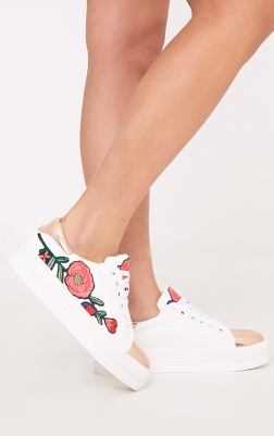 https://www.prettylittlething.com/marika-rose-gold-embroidered-flatform-trainers.html